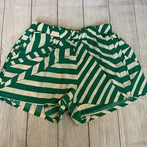 Small Green & White Tyche Shorts